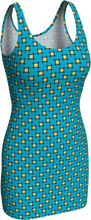 Load image into Gallery viewer, The Moira Fitted Dress in Blue and Yellow