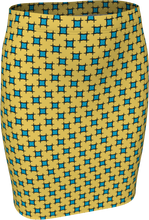 Load image into Gallery viewer, The Moira Fitted Skirt in Yellow and Blue