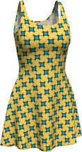 Load image into Gallery viewer, The Moira Flare Dress in Yellow and Blue