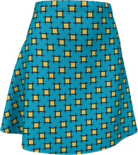 Load image into Gallery viewer, The Moira Flare Skirt in Blue and Yellow