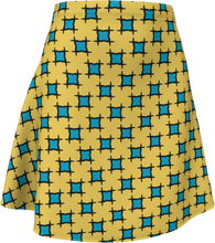 Load image into Gallery viewer, The Moira Flare Skirt in Yellow and Blue