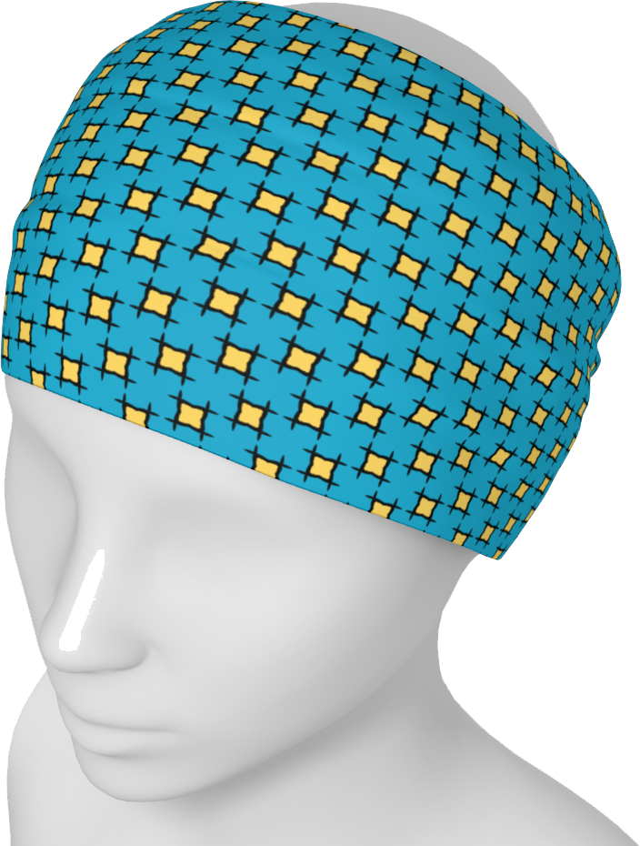 The Moira Headband in Blue and Yellow