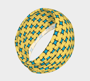 The Moira Headband in Yellow and Blue