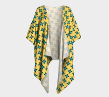 Load image into Gallery viewer, The Moira Kimono in Yellow and Blue