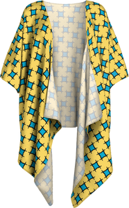 The Moira Kimono in Yellow and Blue
