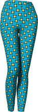 Load image into Gallery viewer, The Moira Leggings in Blue and Yellow-Leggings-Clash Patterns by Jennifer Akkermans