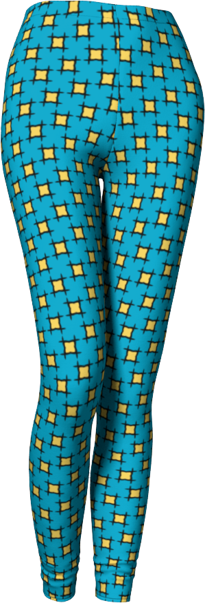 The Moira Leggings in Blue and Yellow