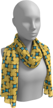 Load image into Gallery viewer, The Moira Long Scarf in Yellow and Blue