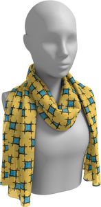 The Moira Long Scarf in Yellow and Blue