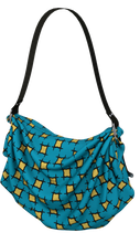 Load image into Gallery viewer, The Moira Origami Bag in Blue and Yellow