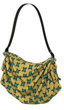 Load image into Gallery viewer, The Moira Origami Bag in Yellow and Blue-Origami Tote-Clash Patterns by Jennifer Akkermans