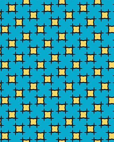 The Moira Print-at-Home Art Print in Blue and Yellow - Digital Download-Clash Patterns