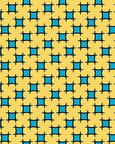 The Moira Print-at-Home Art Print in Yellow and Blue - Digital Download-Clash Patterns