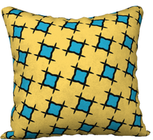 Load image into Gallery viewer, The Moira Reversible Pillow in Yellow and Blue