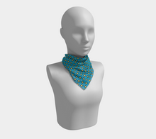 Load image into Gallery viewer, The Moira Square Scarf in Blue and Yellow