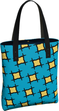 Load image into Gallery viewer, The Moira Tote Bag in Blue and Yellow-Tote Bag-Clash Patterns by Jennifer Akkermans