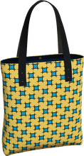 Load image into Gallery viewer, The Moira Tote Bag in Yellow and Blue-Tote Bag-Clash Patterns by Jennifer Akkermans