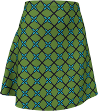 Load image into Gallery viewer, The Nadine Flare Skirt in Green and Blue