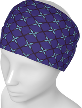 Load image into Gallery viewer, The Nadine Headband in Purple and Blue