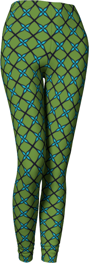 The Nadine Leggings in Green and Blue