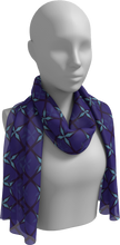 Load image into Gallery viewer, The Nadine Long Scarf in Purple and Blue