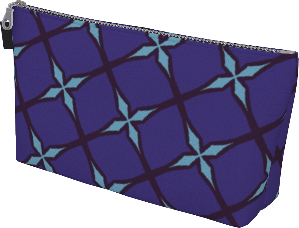 The Nadine Makeup Bag in Purple and Blue