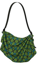 Load image into Gallery viewer, The Nadine Origami Bag in Green and Blue