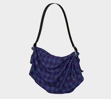 Load image into Gallery viewer, The Nadine Origami Tote in Purple and Blue-Clash Patterns