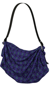 The Nadine Origami Tote in Purple and Blue