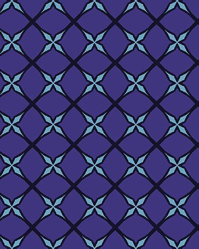 The Nadine Print-at-Home Art Print in Purple and Blue - Digital Download-Clash Patterns