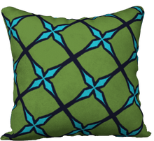 Load image into Gallery viewer, The Nadine Reversible Pillow in Green and Blue