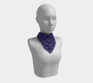 The Nadine Square Scarf in Purple and Blue