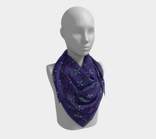 Load image into Gallery viewer, The Nadine Square Scarf in Purple and Blue