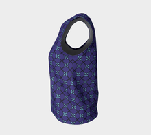 Load image into Gallery viewer, The Nadine Tank Top in Purple and Blue-Clash Patterns