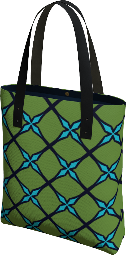 The Nadine Tote Bag in Green and Blue