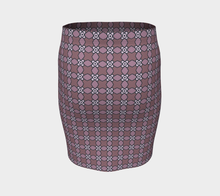 Load image into Gallery viewer, The Nancy Fitted Skirt in Mauve-Clash Patterns