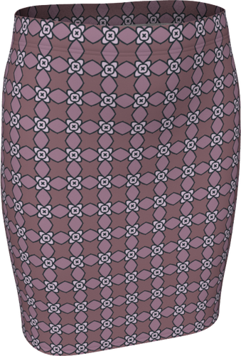 The Nancy Fitted Skirt in Mauve-Fitted Skirt-Clash Patterns by Jennifer Akkermans