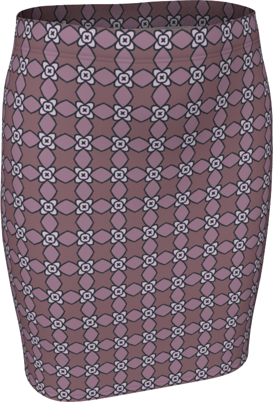 The Nancy Fitted Skirt in Mauve
