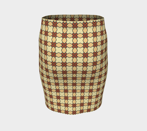 The Nancy Fitted Skirt in Wheat-Clash Patterns