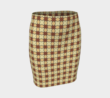 Load image into Gallery viewer, The Nancy Fitted Skirt in Wheat-Clash Patterns
