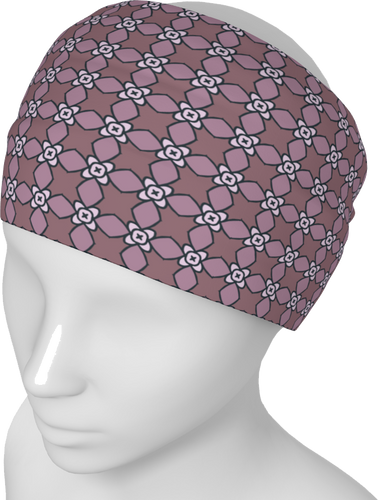 The Nancy Headband in Mauve-Headband-Clash Patterns by Jennifer Akkermans