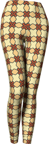 The Nancy Leggings in Wheat-Leggings-Clash Patterns by Jennifer Akkermans