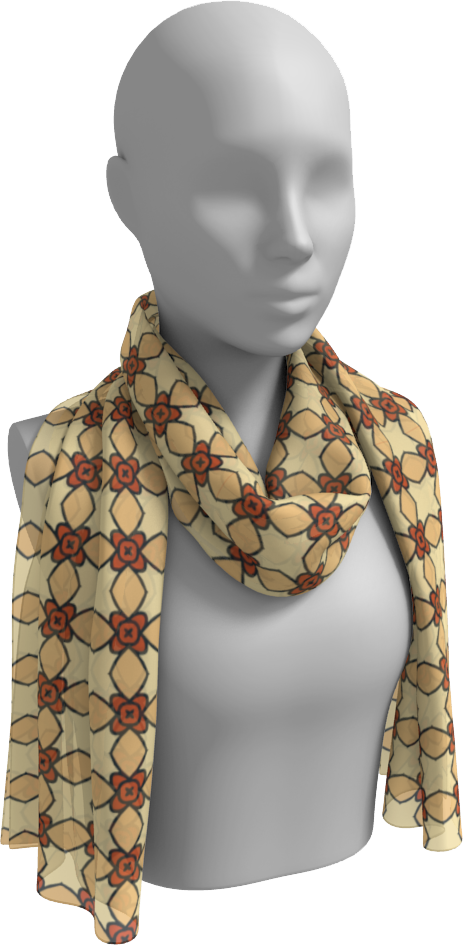 The Nancy Long Scarf in Wheat