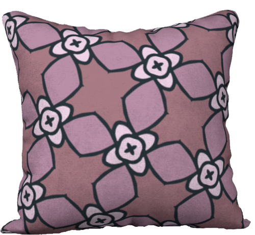 The Nancy Reversible Pillow in Mauve-18