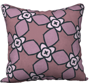 The Nancy Reversible Pillow in Mauve