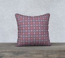 Load image into Gallery viewer, The Nancy Reversible Pillow in Mauve-Clash Patterns
