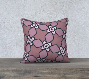The Nancy Reversible Pillow in Mauve-Clash Patterns