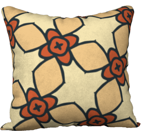 The Nancy Reversible Pillow in Wheat-18
