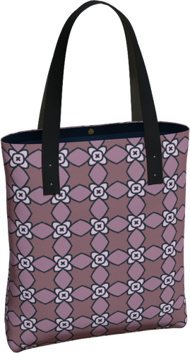 The Nancy Tote Bag in Mauve-Tote Bag-Clash Patterns by Jennifer Akkermans