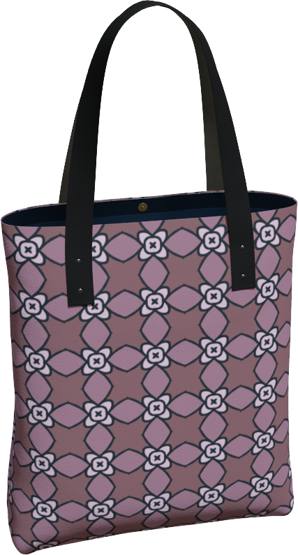 The Nancy Tote Bag in Mauve
